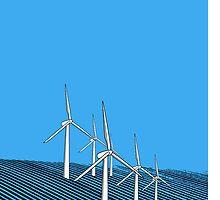 Wind Farm Ocean by Martin Allen