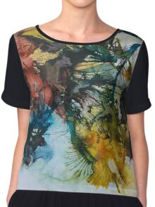 Splattered with Color Chiffon Top