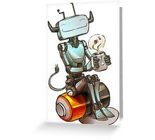 Tea Bot Greeting Card