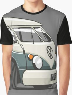 VW T1 Microbus cartoon green Graphic T-Shirt