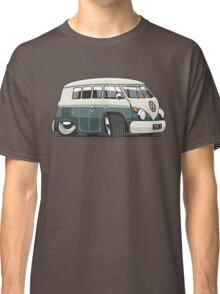 VW T1 Microbus cartoon green Classic T-Shirt