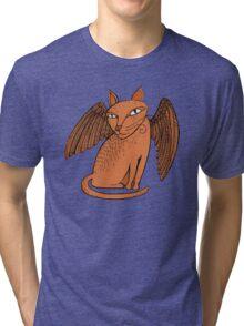 Winged cat Tri-blend T-Shirt