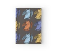 Winged cat Hardcover Journal