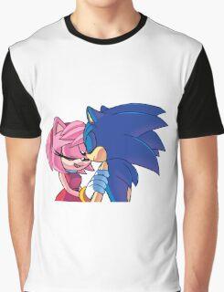 Sonamy - Sonic The Hedgehog Graphic T-Shirt