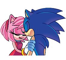Sonamy - Sonic The Hedgehog Photographic Print