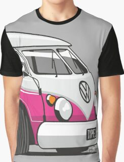 VW T1 Microbus cartoon pink Graphic T-Shirt