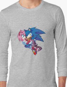 Sonic Boom - Sonic & Amy Rose Long Sleeve T-Shirt
