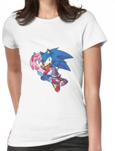 Sonic Boom - Sonic & Amy Rose Womens Fitted T-Shirt