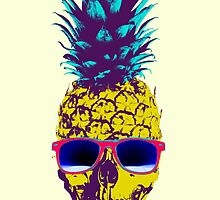Pineapple Skull by HilaryHeffron
