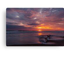 Sunset at Playas, Ecuador Canvas Print