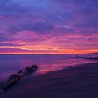 Purple Sunset at Playas, Ecuador by Paul Wolf