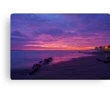 Purple Sunset at Playas, Ecuador Canvas Print