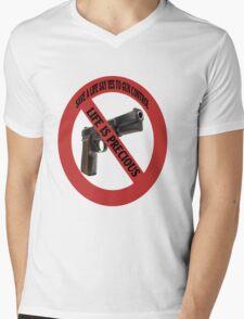 SAVE A LIFE SAY YES TO GUN CONTROL TEE SHIRT,PILLOWS,TOTE BAGS,ECT  Mens V-Neck T-Shirt