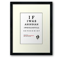 Indian Eye Chart Framed Print