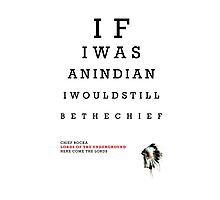 Indian Eye Chart Photographic Print