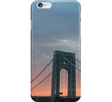 George Washington Bridge NYC Sunset iPhone Case/Skin