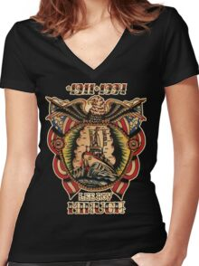Lee Roy Minugh Chestpiece Women's Fitted V-Neck T-Shirt