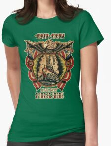 Lee Roy Minugh Chestpiece Womens Fitted T-Shirt