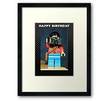 Lego Photographer - Birthday Framed Print
