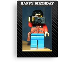 Lego Photographer - Birthday Canvas Print