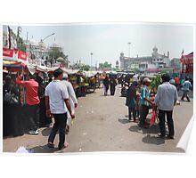 Street Scene Charminar Poster