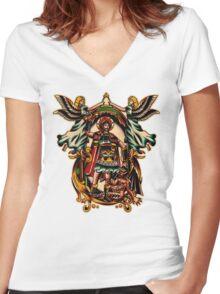 St. Nikita Women's Fitted V-Neck T-Shirt
