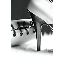 Monotone Heeled Oxford Shoe Image Photographic Print