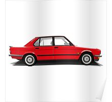 BMW M5 (E28) (red) Poster