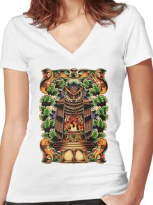 Bohemians Grove Women's Fitted V-Neck T-Shirt