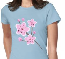 Cherry Blossom Smile Womens Fitted T-Shirt