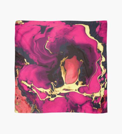 Artwork, pink and gold Scarf
