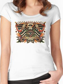 Black Eyes Made Natural (PT-BR) Women's Fitted Scoop T-Shirt
