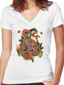 Brazilian Snake Women's Fitted V-Neck T-Shirt