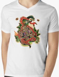 Brazilian Snake Mens V-Neck T-Shirt