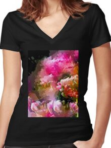 Abstract 272 Women's Fitted V-Neck T-Shirt