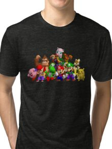 Super Smash Bros. 64 Cast Tri-blend T-Shirt