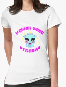Weeb Trash Womens Fitted T-Shirt