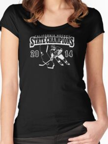 State Champs - Version 1 White Text Women's Fitted Scoop T-Shirt