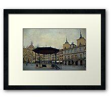 Plaza Mayor de Segovia Framed Print