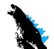 Godzilla Black and Blue by noahhk