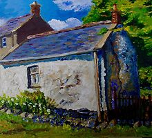 Forget-me-not, Aunt Ritas Old Cottage, Ballylumford, Islandmagee. by Laura Butler