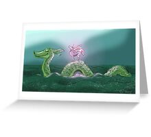 Nessie and Uni Greeting Card