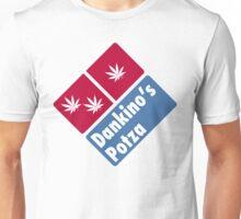 Dankino's Potza - Domino's Pizza Marijuana Parody Unisex T-Shirt