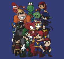 The Justice League of Nintendo and Sidekicks by Petertwnsnd