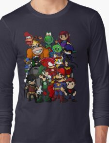 The Justice League of Nintendo and Sidekicks Long Sleeve T-Shirt