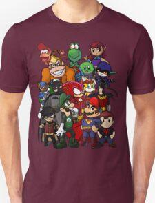 The Justice League of Nintendo and Sidekicks Unisex T-Shirt