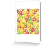 Citrus pattern Greeting Card
