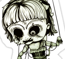 Marionette Skull Doll Sticker
