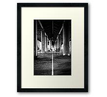 The Stripe Under The Highway Framed Print