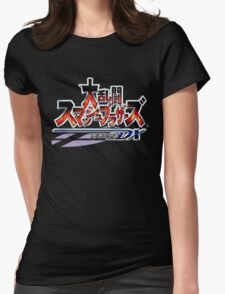 Japanese Super Smash Bros. Melee Logo Womens Fitted T-Shirt